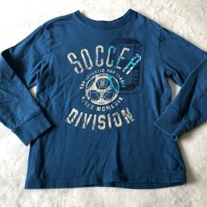 Gap Graphic Soccer Long Sleeve T-Shirt, Size 6-7